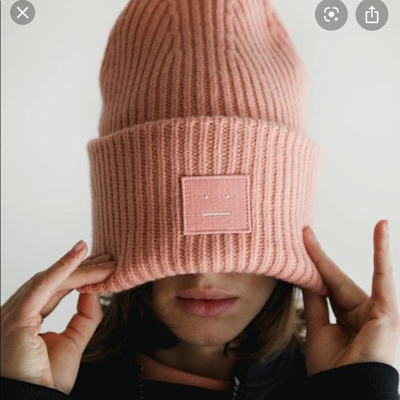 Acne Studio pink hat